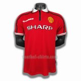 manchester united mannen thuis player voetbal shirts 1998 1999