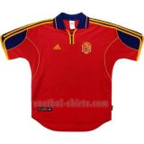 spanje mannen thuis voetbal shirts 2000 rood