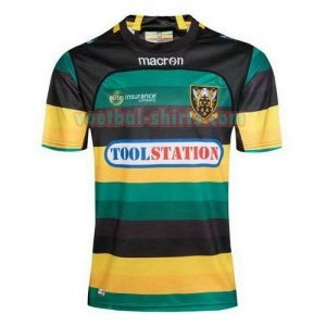 northampton saints mannen thuis voetbal rugby shirts 2017-2018 groen